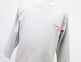 長袖刺繍カットソー