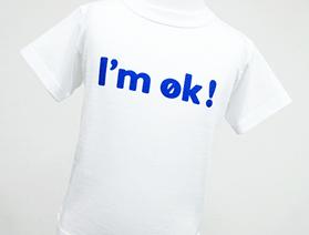 Tシャツ・ I'm ok! (アイムオッケー)