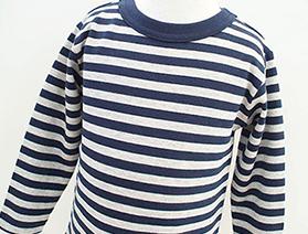 ボーダー長袖Tシャツ・杢グレー×ネイビー(2017年モデル)
