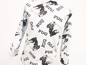 ジャガード長袖Tシャツ・PUG(パグ)