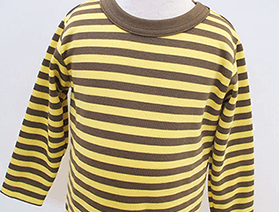 ボーダー長袖Tシャツ・カーキ×イエロー(2017年モデル)