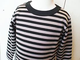 ボーダー長袖Tシャツ・ブラック×グレー(2017年モデル)